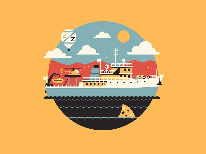 Jaguar Shark dkng vector icon boat helicopter submarine shark ocean dan kuhlken nathan goldman life aquatic steve zissou