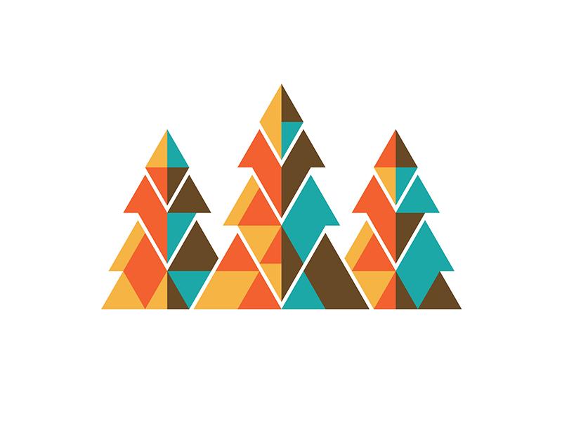 Mystery Project 60 dkng vector tree trees geometry geometric logo dan kuhlken nathan goldman