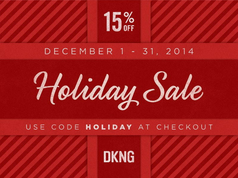 The DKNG Holiday Sale is Here! dkng sale holiday gift dan kuhlken nathan goldman