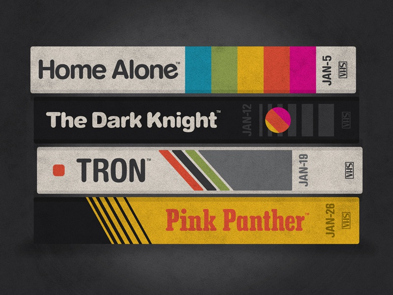 DKNG January Poster Releases dkng tron vhs tapes movie film dan kuhlken nathan goldman home alone batman dark knight pink panther