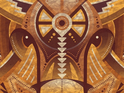 Bison Art Print native american nathan goldman dan kuhlken illustration geometric buffalo bison vector dkng