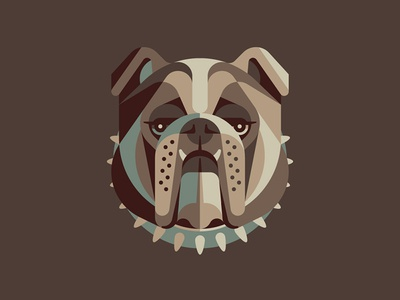 Mystery Project 70.1 english bulldog nathan goldman dan kuhlken pencil geometric dog bulldog collar dkng