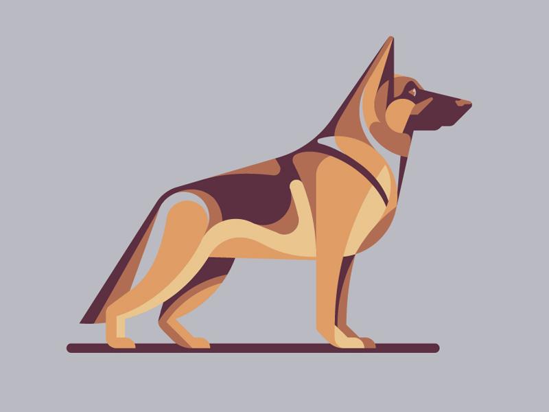 Mystery Project 70.4 german shepherd nathan goldman dan kuhlken geometric dog dkng