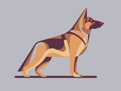 Mystery Project 70.4 german shepherd nathan goldman dan kuhlken geometric dog dkng
