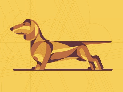 Mystery Project 70.5 wiener dog dachshund nathan goldman dan kuhlken guidelines yellow geometric dog dkng