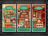 2015 Outside Lands Triptych Set