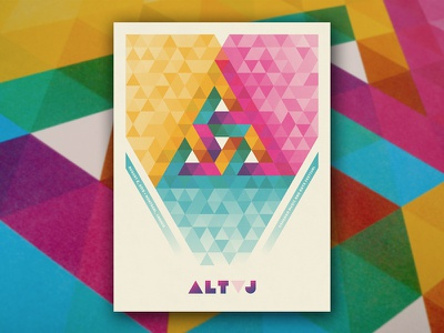 Alt-J Poster alt-j nathan goldman dan kuhlken montreal canada gigposter poster geometry triangle delta geometric dkng