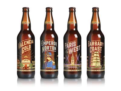 Almanac Beer Co. Seasonal Bottles san francisco nathan goldman dan kuhlken bottles bottle vector 360 packaging almanac beer dkng