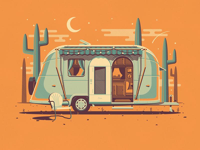 Explorer Club: Mojave nathan goldman dan kuhlken mojave clouds desert chair cactus vector dkng