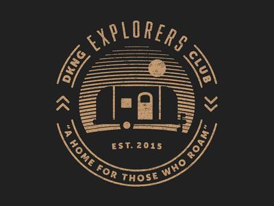 Explorers Club Shirt explorers club nathan goldman dan kuhlken sunset badge icon shirt airstream dkng