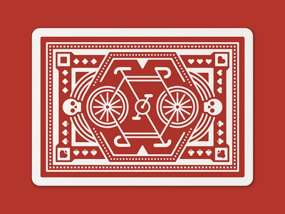 Red Wheel Playing Cards: Back playing cards playing card nathan goldman dan kuhlken skull bike card texture vector dkng