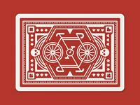 Red Wheel Playing Cards: Back