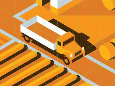 Mystery Project 71 nathan goldman dan kuhlken shadow wheat farm truck isometric vector dkng