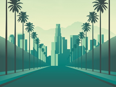 Mystery Project 73 palm tree palm trees los angeles nathan goldman dan kuhlken road california vector dkng