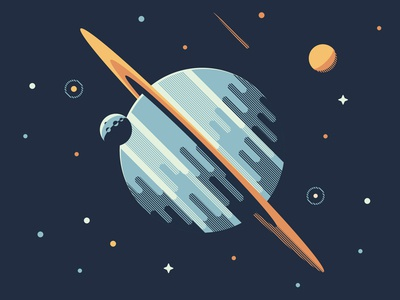 Mystery Project 76.1 nathan goldman dan kuhlken moon saturn stars space planet sun vector dkng