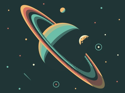Mystery Project 76.2 nathan goldman dan kuhlken moon saturn stars space planet vector dkng