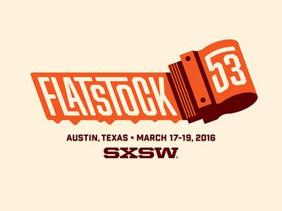 Flatstock 53 screen printing nathan goldman dan kuhlken typography texas austin sxsw squeegee screenprinting vector logo dkng