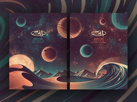 311 Southern California Posters nathan goldman dan kuhlken wave 311 mountain stars space planet sun vector dune dkng