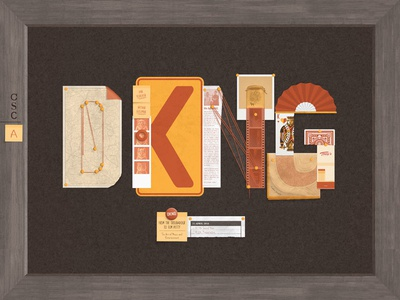 DKNG at CSCA anthony wartinger nathan goldman dan kuhlken wood texture poster map film conspiracy collage dkng