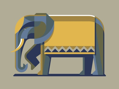 Mystery Project 79 nathan goldman dan kuhlken polygonal geometric geometry africa india elephant vector dkng