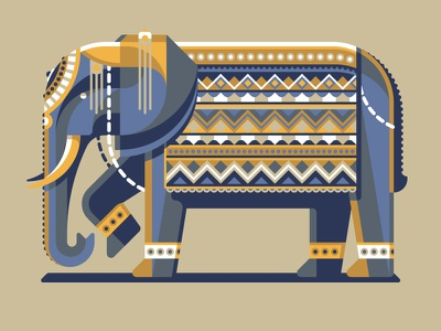 Mystery Project 79.1 nathan goldman dan kuhlken pattern polygonal geometric geometry africa india elephant vector dkng