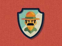 Outside Lands Patch: Ranger Dave nathan goldman dan kuhlken ranger branding logo badge patch vector dkng