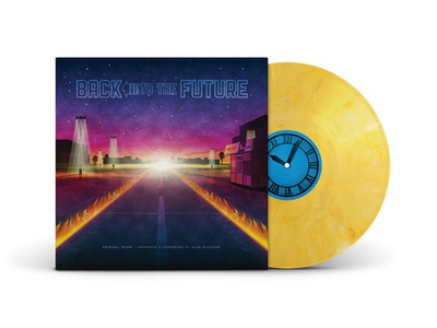 Back To The Future Trilogy Box Set parking lot back to the future nathan goldman dan kuhlken clock packaging vinyl dkng
