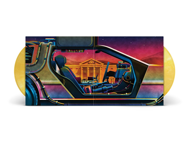 Back To The Future Trilogy Box Set gatefold hill valley back to the future nathan goldman dan kuhlken delorean packaging vinyl dkng
