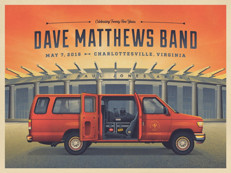 Dave Matthews Band 25th Anniversary dave matthews band nathan goldman dan kuhlken sunset gear instruments car van vector dkng