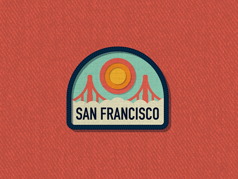 Outside Lands Patch: San Francisco outside lands san francisco nathan goldman dan kuhlken logo branding city badge patch vector dkng