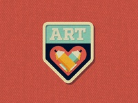 Outside Lands Patch: Art heart art graffiti san francisco nathan goldman dan kuhlken icon badge patch vector dkng