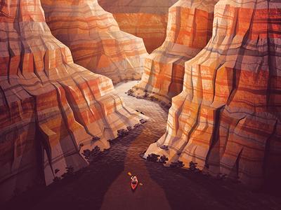 Grand Canyon National Park Poster national park grand canyon nathan goldman dan kuhlken polygonal rocks mountain kayak arizona vector dkng