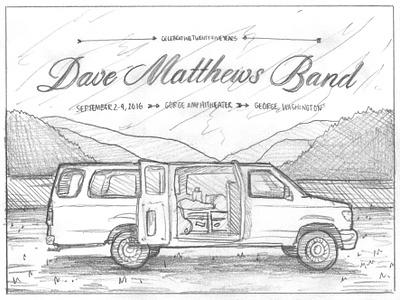 Dave Matthews Band Gorge Poster dave matthews band nathan goldman dan kuhlken van poster print gigposter washington gorge vector dkng