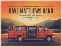Dave Matthews Band Gorge Poster