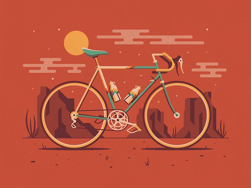 Explorers Club: Mesa road bike nathan goldman dan kuhlken cactus mesas mesa clouds sun dessert bicycle bike dkng