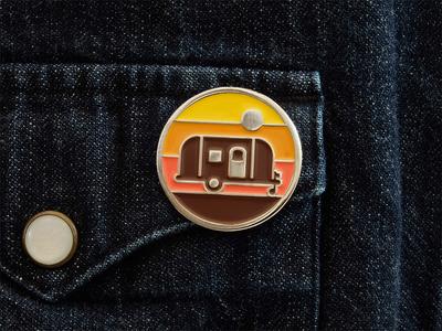 Explorers Club: Camper Pin enamel pin nathan goldman dan kuhlken geometric sunset airstream camper brooche pin dkng