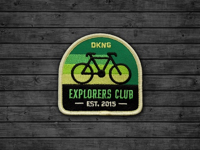 Explorers Club: Cyclist Patch nathan goldman dan kuhlken patch icon badge cyclist retro bicycle bike geometric dkng