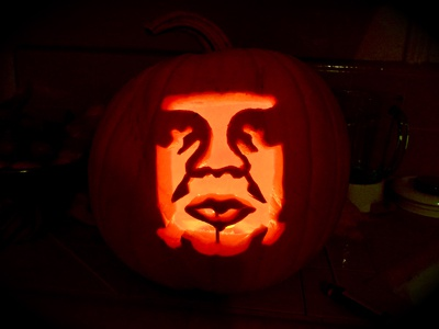 Happy Halloween pumpkin carving obey giant halloween dan kuhlken shepard fairey dkng
