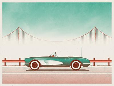 DKNG at RCF San Francisco! golden gate bridge san francisco nathan goldman dan kuhlken bridge corvette car dkng