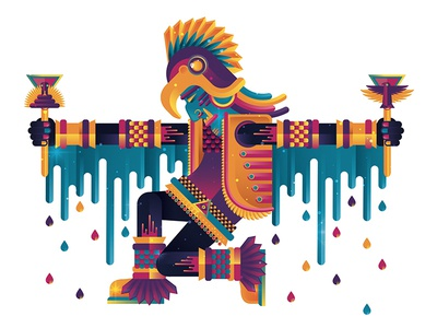 Illustration by David Holt geometry nathan goldman dan kuhlken illustrator graphicdesign design skillshare aztecan mayan mexican geometric dkng