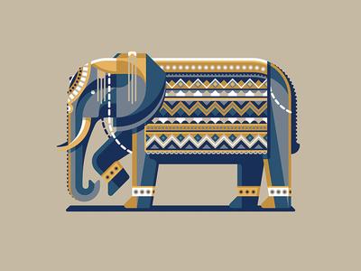 'Illustrating Geometric Animals' FREE for 1-week dkng studios nathan goldman dan kuhlken skillshare illustration geometric geometry elephant dkng