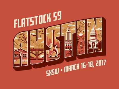 SXSW's Flatstock 59 in Austin, TX dkng studios nathan goldman dan kuhlken sxsw texas austin architecture building dkng