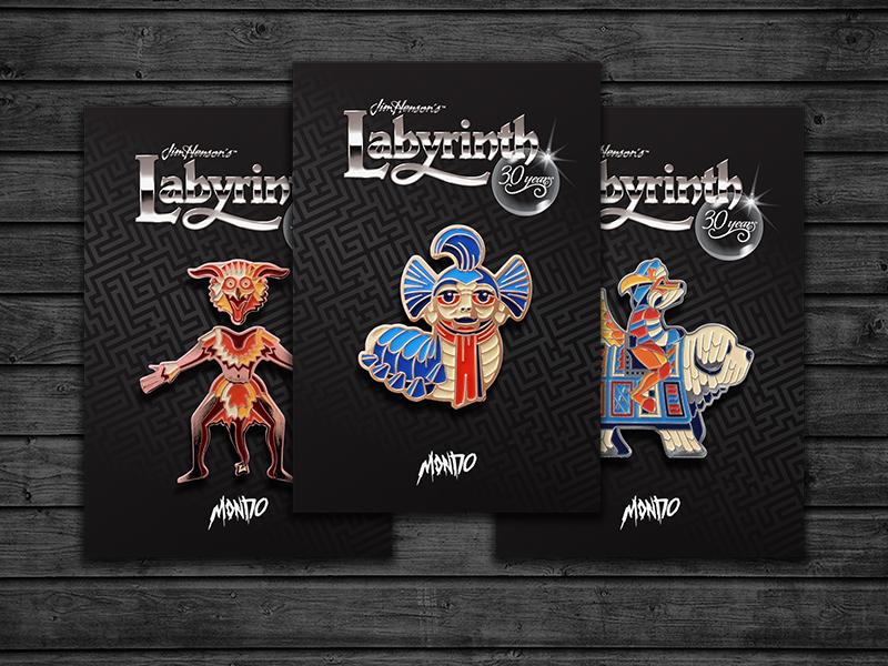 Fireys Two Enamel Pin Set by DKNG x Mondo Labyrinth
