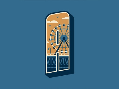 Mystery Project 84.3 ferris wheel santa monica los angeles dkng studios nathan goldman dan kuhlken pier la dkng