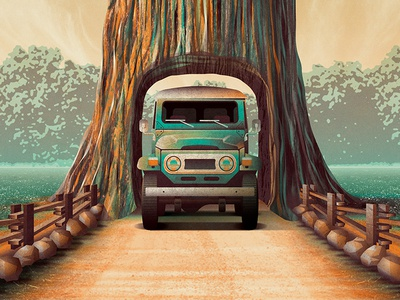 Mystery Project 86.1 dkng studios nathan goldman dan kuhlken road texture tree car jeep dkng