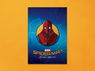 Spider-man Homecoming: Homemade Suit Enamel Pin spider-man enamel pin dkng studios nathan goldman dan kuhlken comic marvel spiderman pin dkng