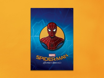 Spider-man Homecoming: Stark Suit Enamel Pin dkng pin spiderman marvel comic dan kuhlken nathan goldman dkng studios enamel pin spider-man