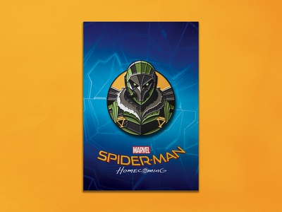 Spider-man Homecoming: Vulture Enamel Pin spider-man enamel pin dkng studios nathan goldman dan kuhlken comic marvel spiderman pin dkng