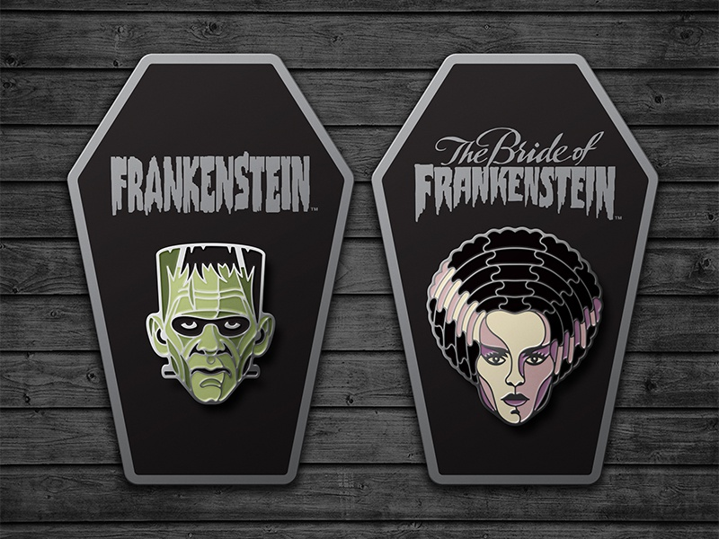 Universal Monsters Enamel Pins the bride of frankenstein universal monster enamel pin dkng studios nathan goldman dan kuhlken monster frankenstein pin dkng