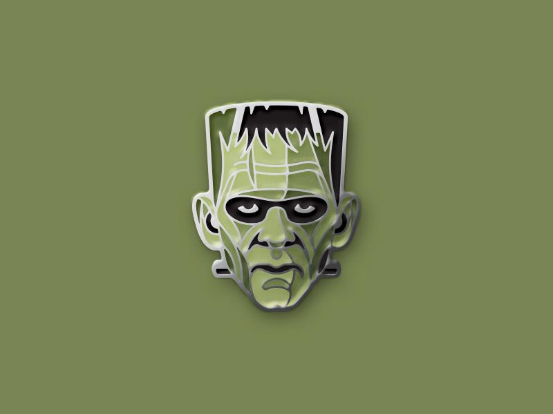 Frankenstein's Monster Enamel Pin the bride of frankenstein universal monster enamel pin dkng studios nathan goldman dan kuhlken monster frankenstein pin dkng